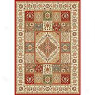 Silver Anniversary Multi Color Panel Medallion Rug