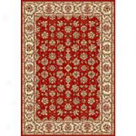 Siivet Anniversary Red/ivory Tabriz Wool Rug