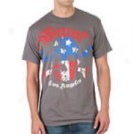 Smet Flag Skull Grey Cotton T-shirt
