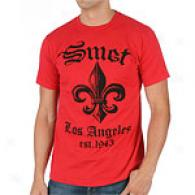 Smet Spade Red Cotton Short Sleeve T-shirt
