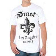 Smet Spade White Cotton-wool Lacking Sleeve T-shirt