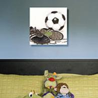 Soccer 16in X 16in Canvas Print