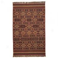 Southwestern Tribal Stripe Wool & Jute Rug
