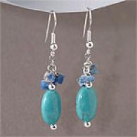 Southwestern Turquoise & Lapis Dangle Earrings