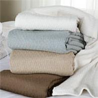 Spa Collection Cotton Herringbone Blanket