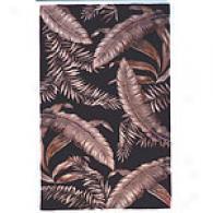 Sparta Red Ferns Handmade Wool Rg