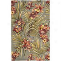 Sparta Red Floral And Palm Handmade Wool Rug