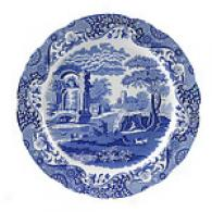 Spode Blue Language of Italy 12