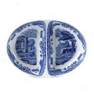 Spode Blue Italian Divided Dish 11.5