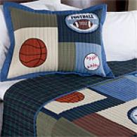 Sports Match Cotton Quilt With Shams