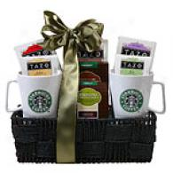 Starbucks For 2 Tazo Infusion  Gift Basket