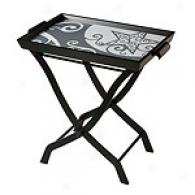 Starlight Tray Table With Glass Top