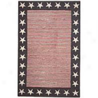Stars & Stripes Hand Hooked Wool Rug