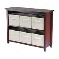 Stella 7pc Long Storage Shoal With Beige Bskets