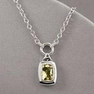 Sterling 3.83 Cttw. Quartz & Diamond Necklace