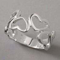 Sterling Silver Alternative Polished Heart Ring