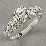 Sterling Gentle Clear Cz Ring With Accent Stones