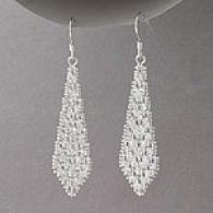 Sterling Silver Graduated Riccio Earrings