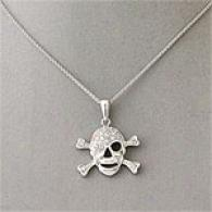 Sterling Silver Skull And Crossbones Pendant