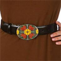 Steven By Steve Madden Multi-flower Plaque Belt