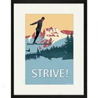 Strive! 17in X 23in Framed Vintage Print