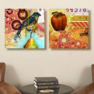 Studio Collage Set Of 2 Canvas Prints