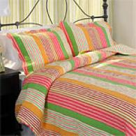 Sugar & Stripes 100% Cotton-wool Quilt Set