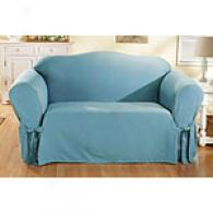 Sure Fit Cotton Aqua Slipcover