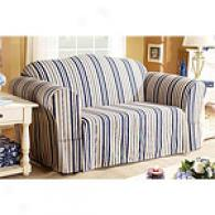 Sure Fit Indigo Stripe Slipcover