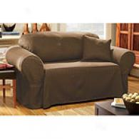 Sure Fit Maxwell Coffee Cotton Blend Slipcover