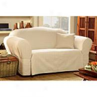 Sure Fit Maxwell Stone Cotton Blend Slipcover