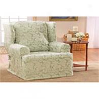 Suure Fit Scroll Wing Chair Slipcover