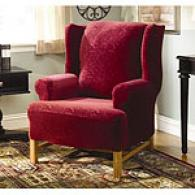 Sure Fit Stretch Elegance Merlot Chair Slipcover