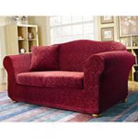 Sure Fit Stretch Elegance Merlot Slipcover