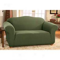 Sure Fit Stretch Honeycomb Dark Cilantro Slipcover
