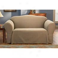 Sure Fit Sussex Brown Cototn Blend Slipcover