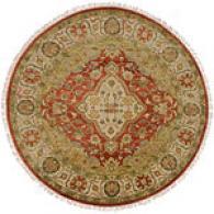Surya Adana rOange Red Round Hand Knotted Wool Rug