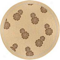 Surya Alfresco Brown Floral Indoor/outdoor Rug