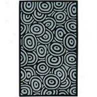 Surya Artist Studio Black Swirl Wool Rug