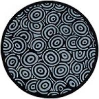 Surya Artist Studio Black Swirl Round Wool Rug