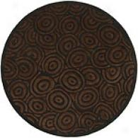 Surya Artist Studio Charcoal Swirl Round Wool Rug