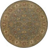 Surya Bombay Traditional Jade 8ft Round Wool Rgu