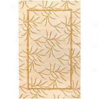 Surya Cabana Beige & Gold Frond Wool Rug
