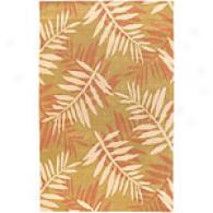Surya Cabana Gold & Beige Frond Wool Rug