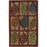 Surya Cape Boxed Fall Leaf Dusk Wool Rug