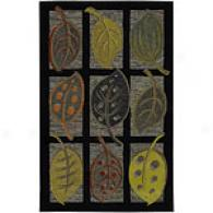Surya Cape Boxed Fall Leaf Night Wool Rug