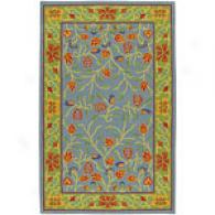 Surya Caribbean Bright Blue & Lime Wool Rug