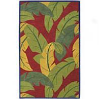 Surya Caribbean Red Hand-tufted Wool Rug