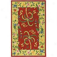 Siya Caribbean Red Palm Hand-tufted Wool Rug