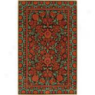 Surya Chocolate Garden Hand-tufted Wool Rug